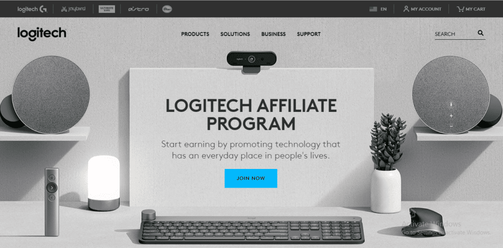 Logitech affiliate program.