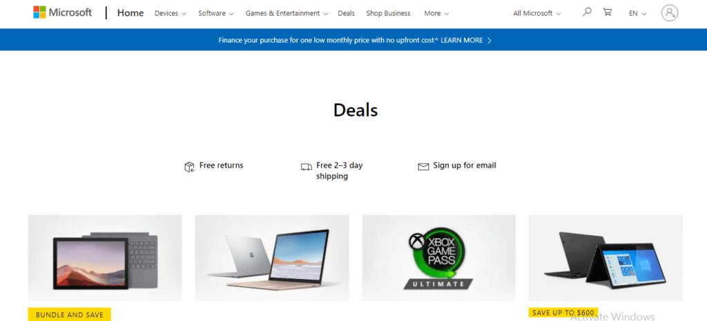 Microsoft affiliate program.